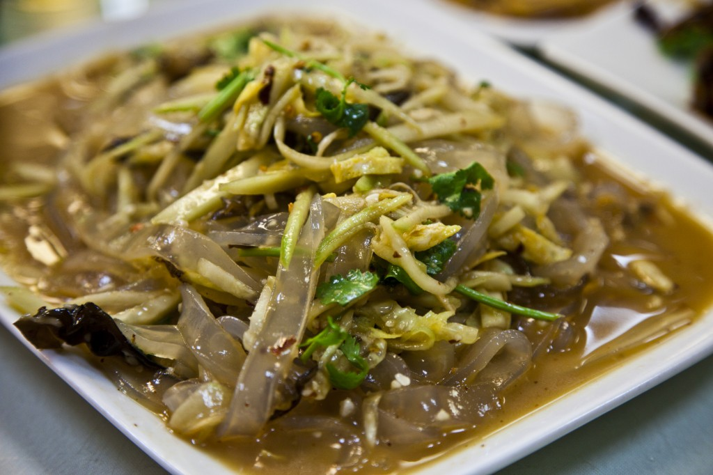 Dining with Outlaws loves the Green Bean Jelly Noodles with Bean Sprouts at Lao Dong Bei in Flushing NY