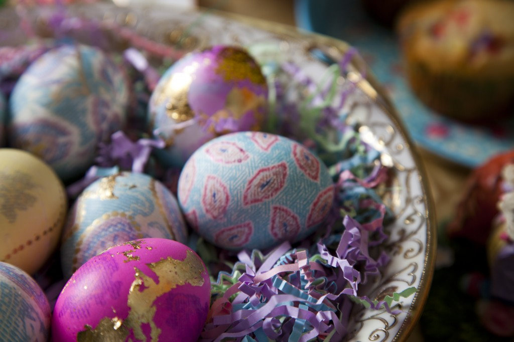 Silk Dyed Easter Eggs by Dining with Outlaws